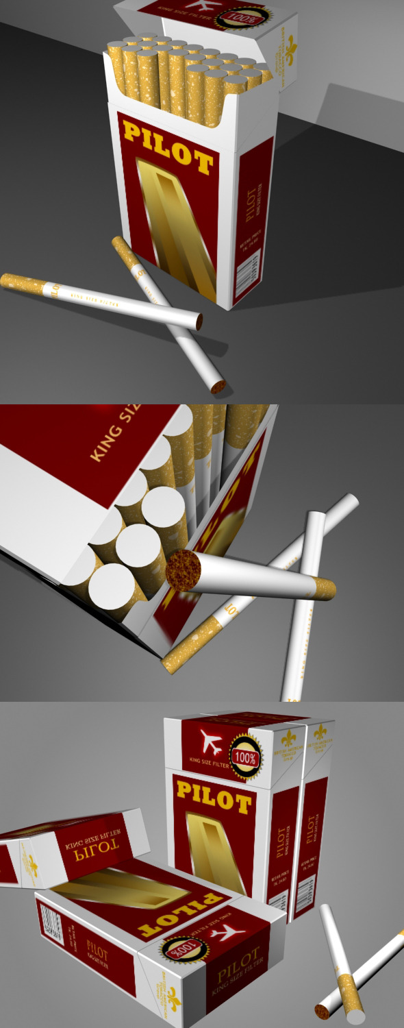 3DOcean Cigarettes And Box 4096905