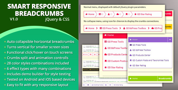 CodeCanyon Smart Responsive Breadcrumbs 4097846