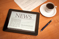 News on digital tablet. - PhotoDune Item for Sale