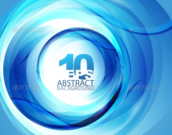 GraphicRiver Blue Swirl Abstract Background 4098186