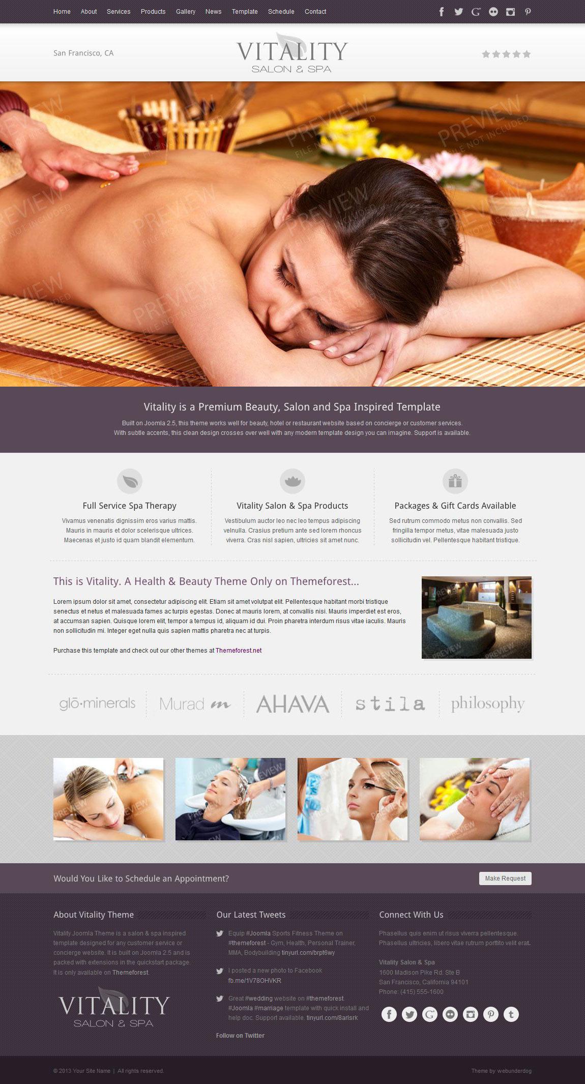 Vitality Joomla Health & Beauty Salon Theme