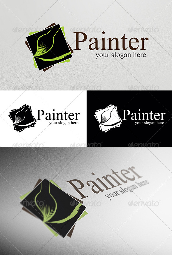 GraphicRiver Painter Logo Template 4027641