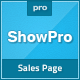 Showpro - Responsive Sales Page - ThemeForest Item for Sale