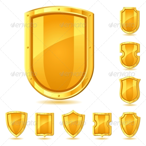 GraphicRiver Set of Shield Icons Symbols and Signs 4101254