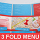Ice Cream Food Menu Template Tri-Fold - GraphicRiver Item for Sale