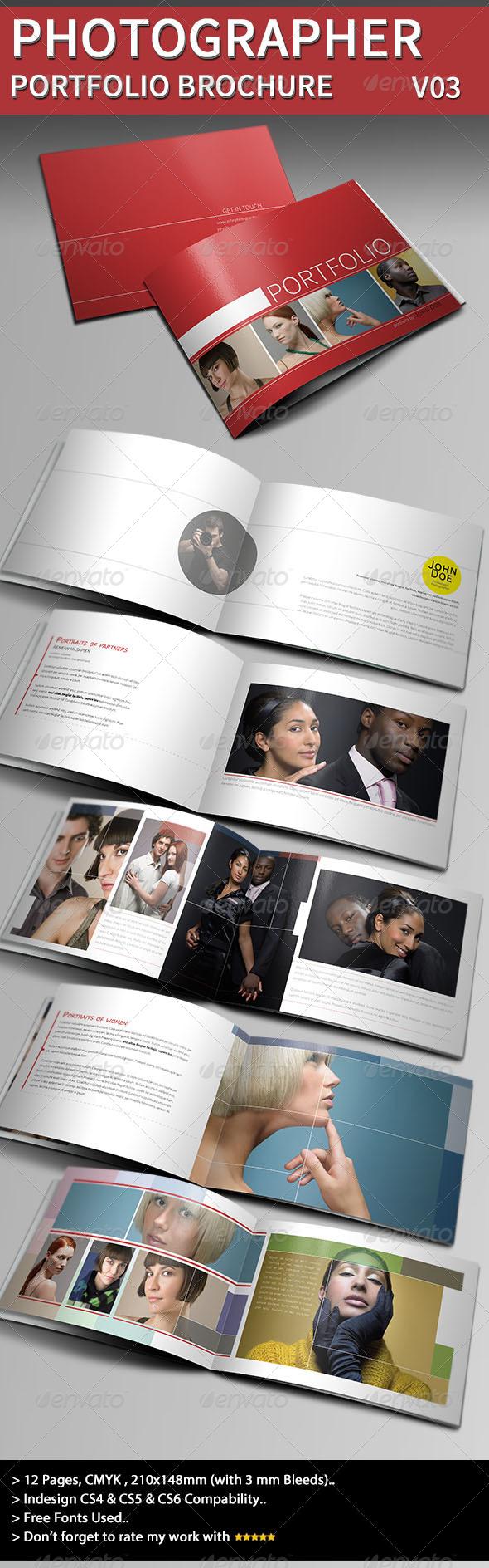 GraphicRiver Photographer Portfolio Brochure Template III 4102425