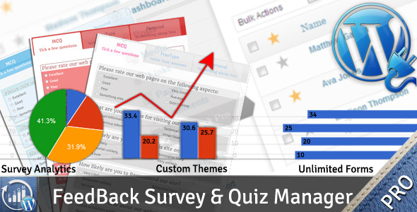WP Feedback, Survey & Quiz Manager - Pro - CodeCanyon Item for Sale