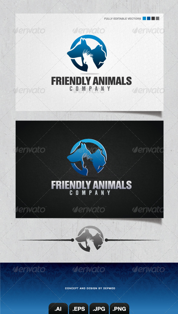 Friendly Animals Company Logo - Animals Logo Templates