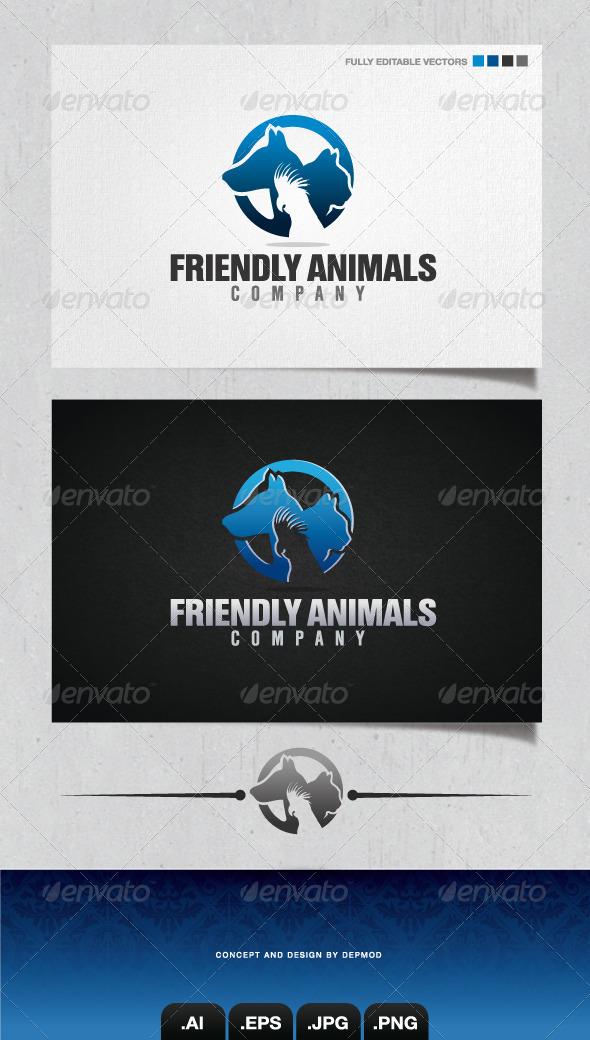 GraphicRiver Friendly Animals Company Logo 4036377