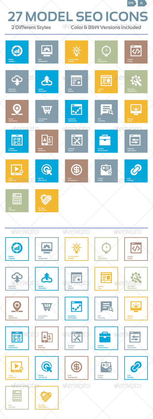 GraphicRiver Model Seo Icon Beautiful 4103407