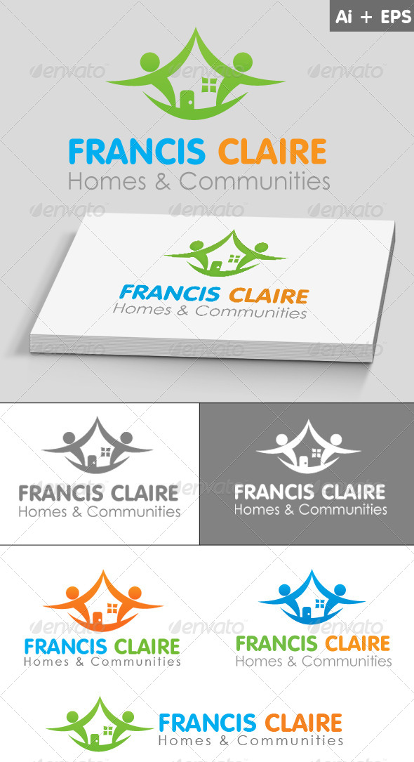 GraphicRiver Home & Communities Logo Template 4034703