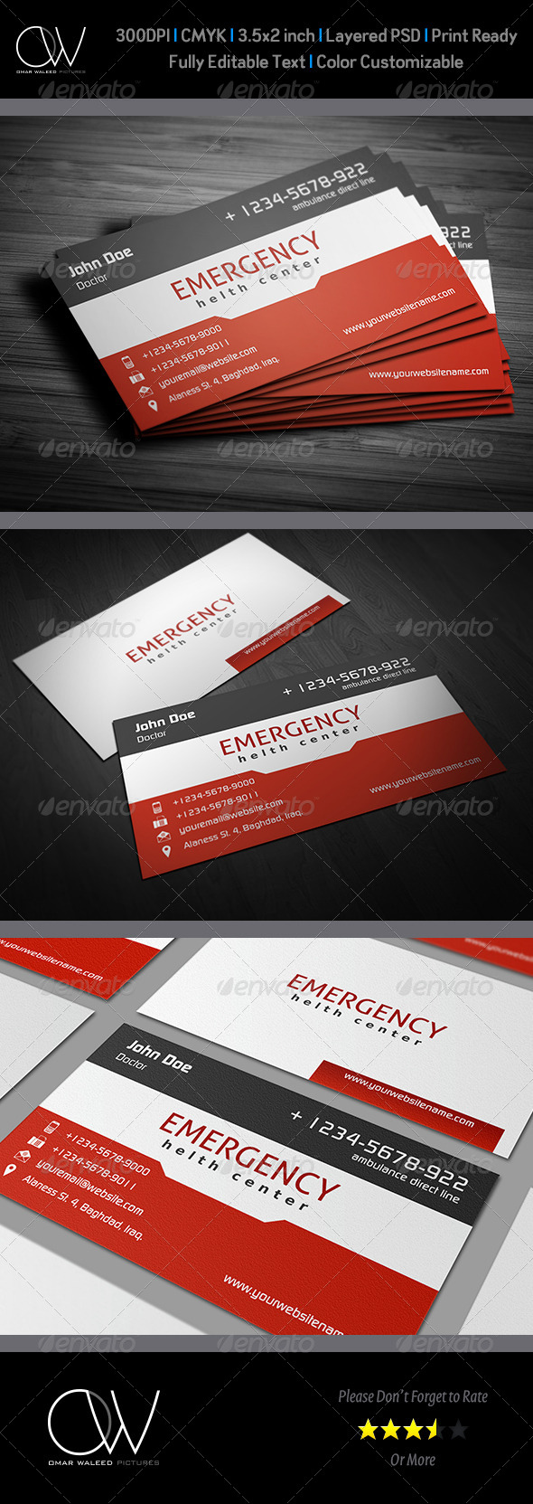 GraphicRiver First Aid Business Card Vol.2 3983911