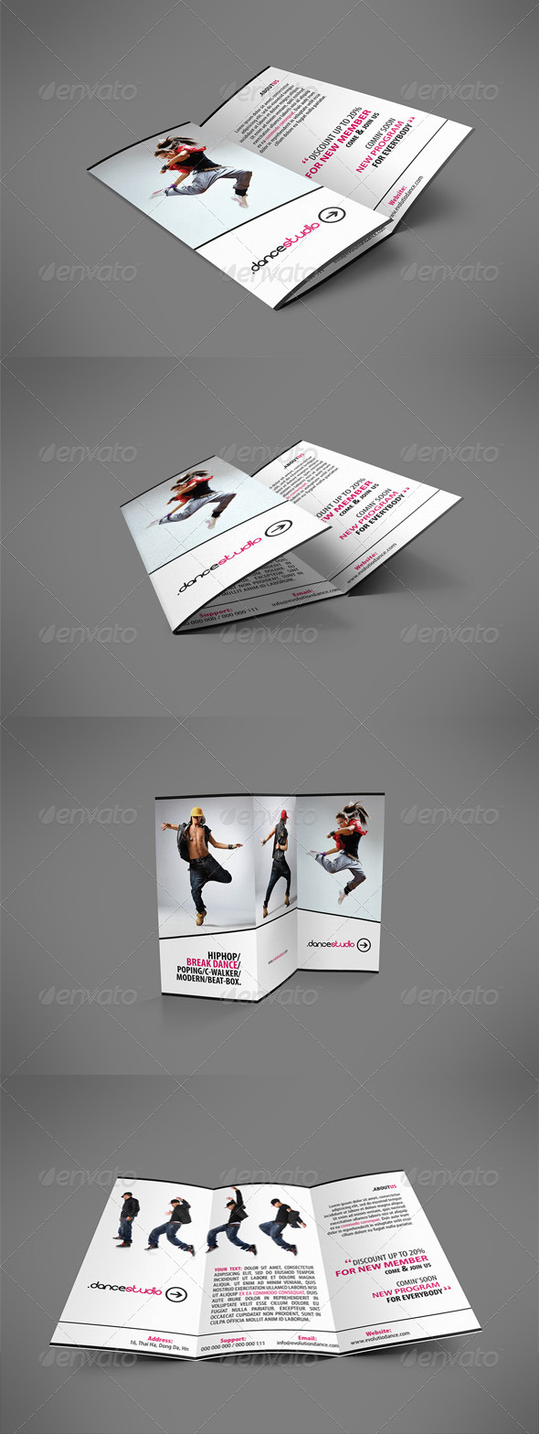 GraphicRiver Street Art Brochure Tri-fold 3985149
