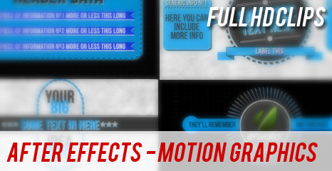 AFTER EFFECTS - MOTION GRAPHICS