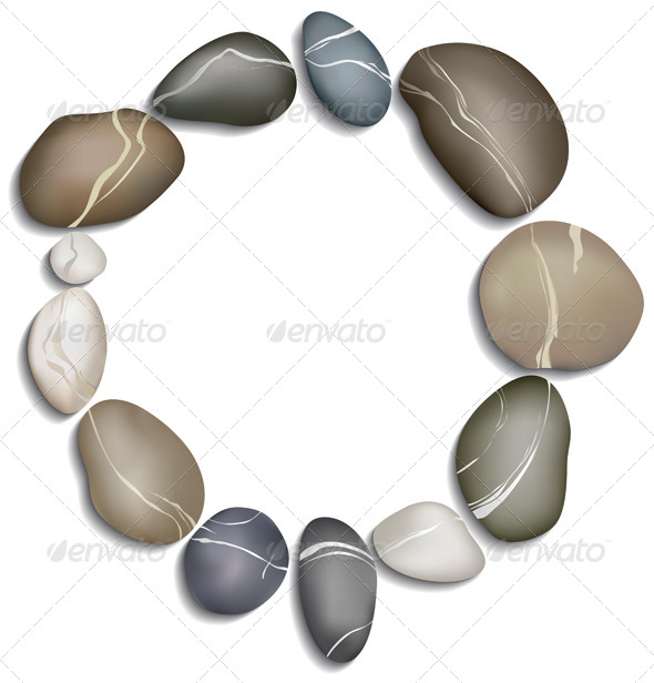 GraphicRiver Circle of Twelve Pebbles 4105914
