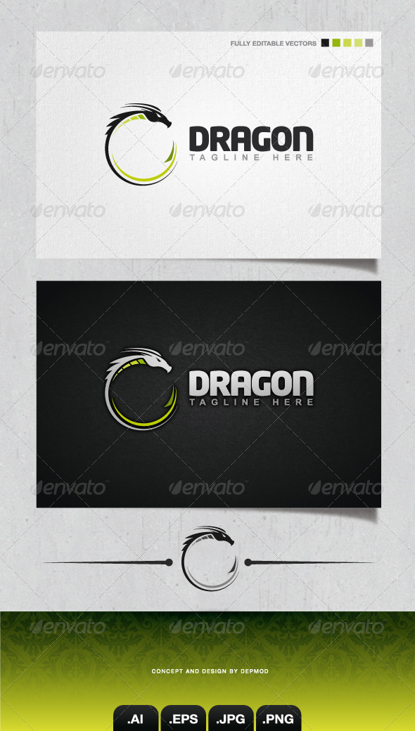 GraphicRiver Dragon Logo 4106382