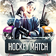 Hockey Match Flyer Template - GraphicRiver Item for Sale