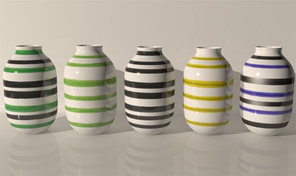 3DOcean Kahler Omaggio Design Vases 4106387