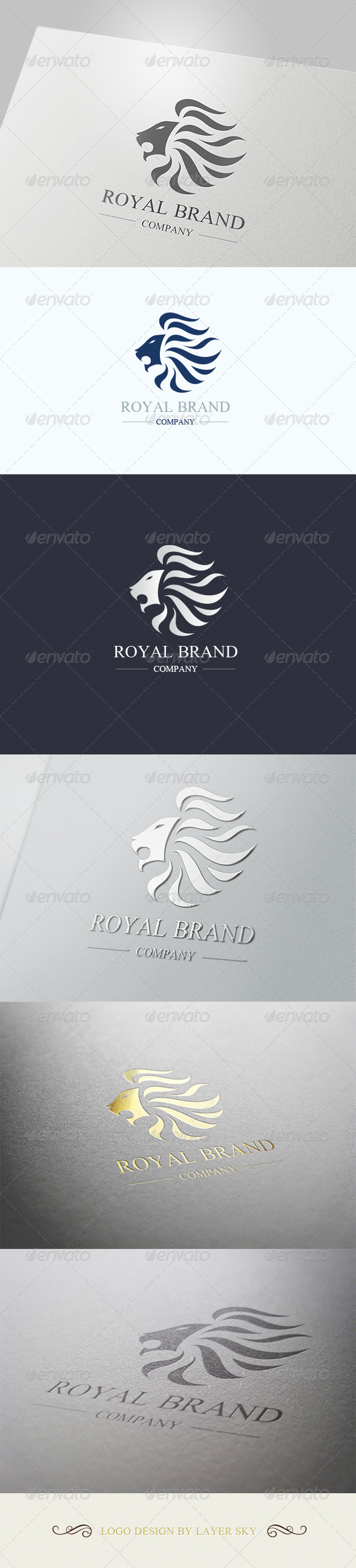 GraphicRiver Lion Royal Brand Logo 1 4106421