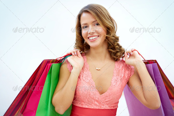 Glamorous shopper - Stock Photo - Images