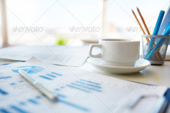 Office morning - Stock Photo - Images