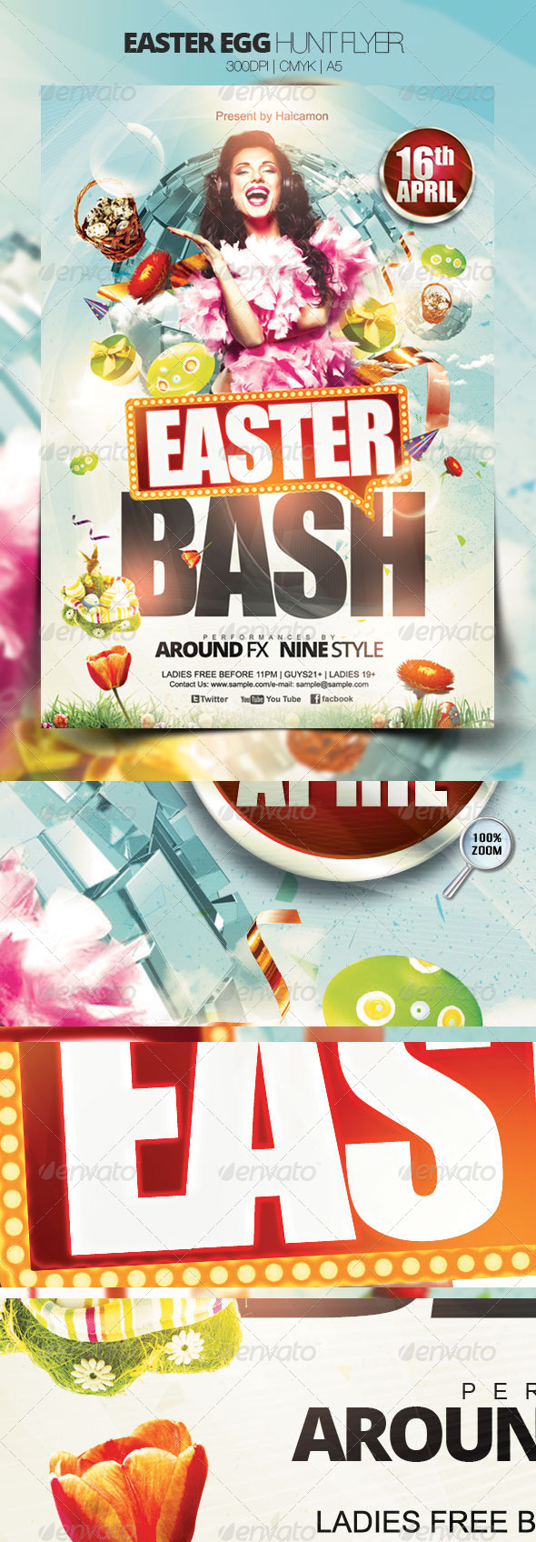 GraphicRiver Easter Egg Hunt Flyer 3990347