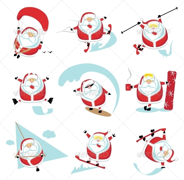 GraphicRiver Extreme Santa 4108202