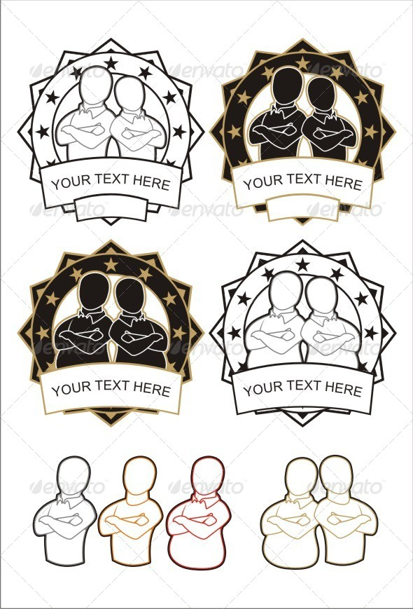 GraphicRiver Brother Badges 4109983