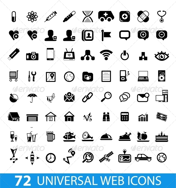 GraphicRiver Set of 72 Universal Web Icons 4110932