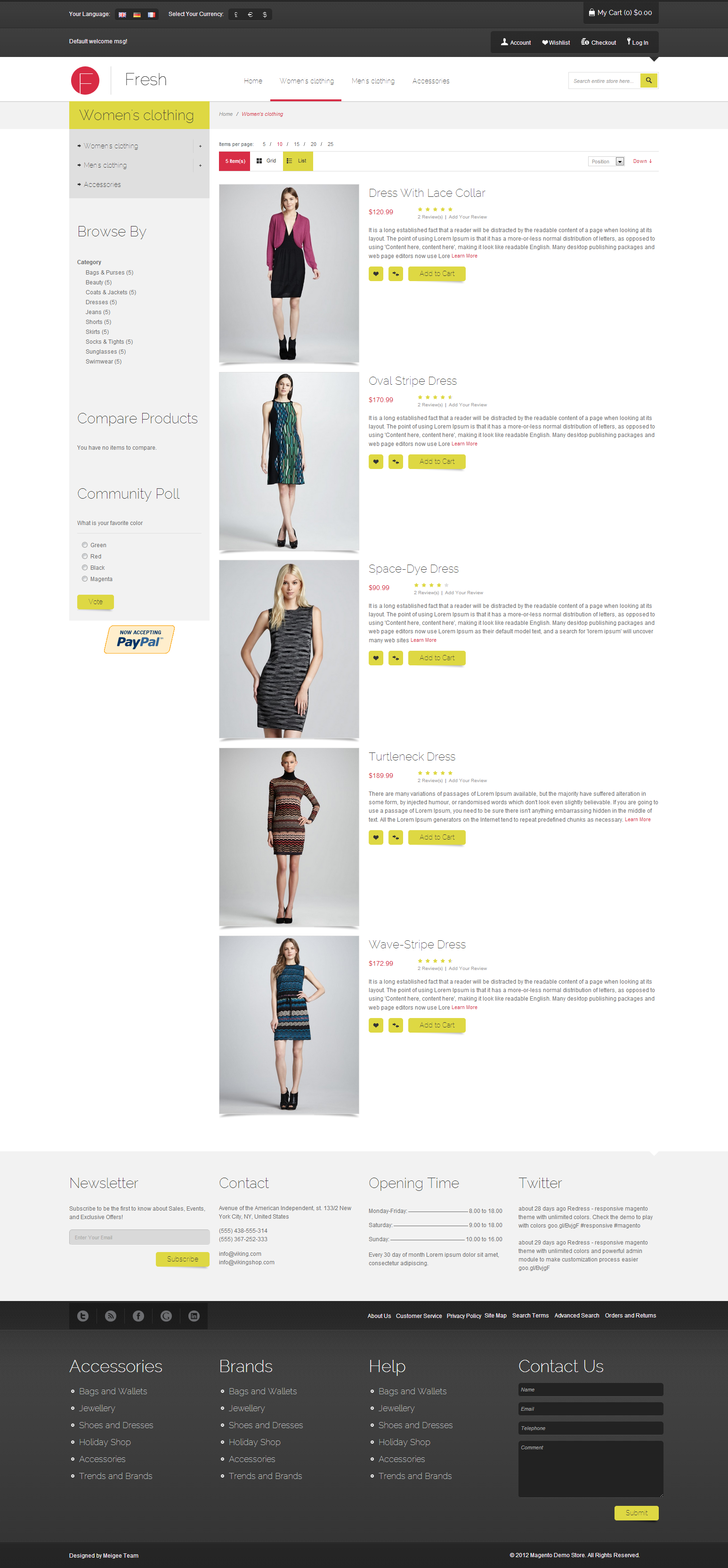 Fresh - Responsive Magento Theme