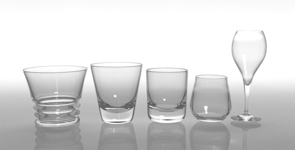 3DOcean Glass Pack Collection 02 4111059