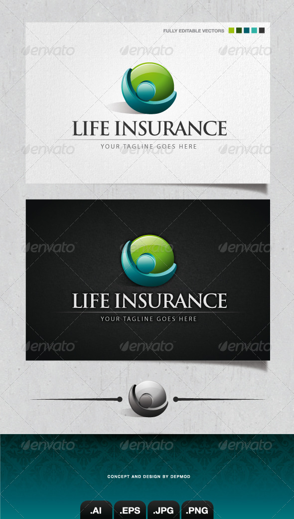 GraphicRiver Life Insurance Logo 4111233