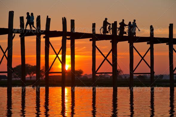 PhotoDune U Bein bridge Mandalay Myanmar 4111571