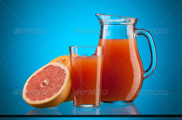 grapefruit juice - Stock Photo - Images