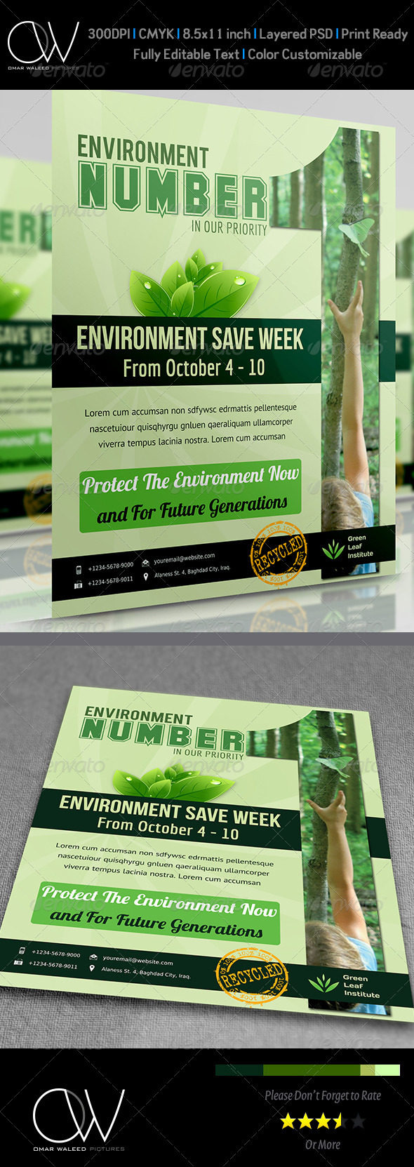 Environment / Nature Flyer Vol.2 - Flyers Print Templates