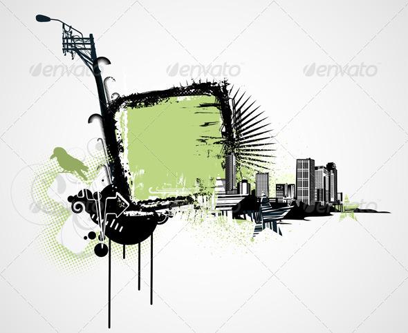 GraphicRiver Urban Grunge Frame 4112731