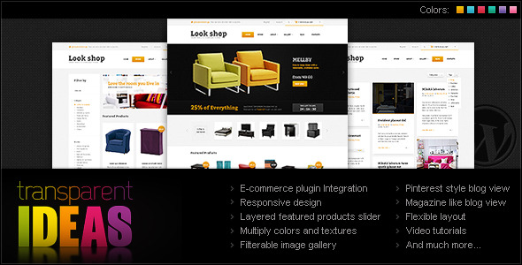 Lookshop - WordPress eCommerce Theme - Overview of the Lookshop WordPress e-Commerce theme