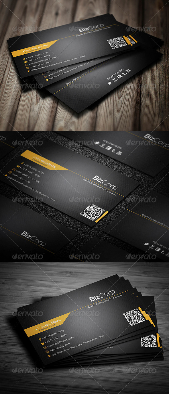 GraphicRiver Black Stylish Business Card 4114032
