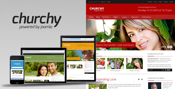 Churchy - Joomla Church Template - Churches Nonprofit