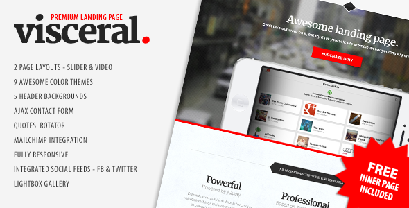 Visceral - Premium Multipurpose Landing Page - Visceral - multipurpose landing page