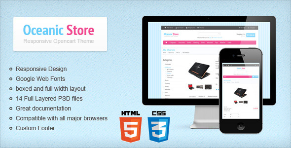 Oceanic Store - Responsive Opencart Theme - OpenCart eCommerce
