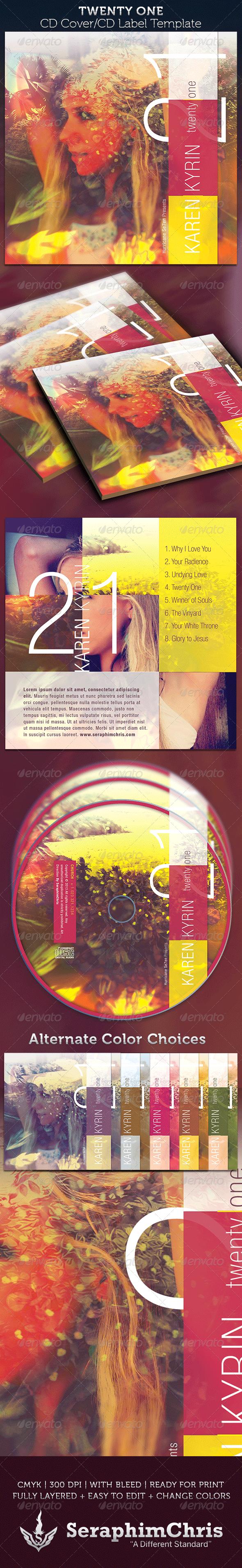 GraphicRiver Twenty One CD Cover Artwork Template 4006815