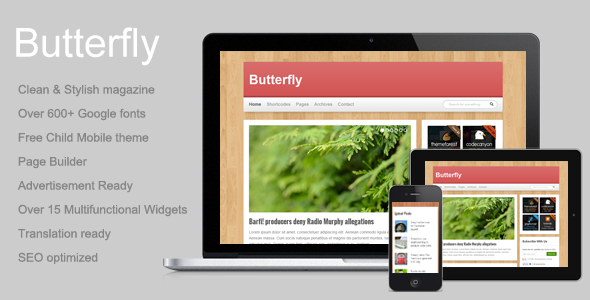 Butterfly - News/Magazine/Blog wordpress theme