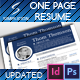 One Page Resume - GraphicRiver Item for Sale