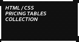 html / css pricing tables collection