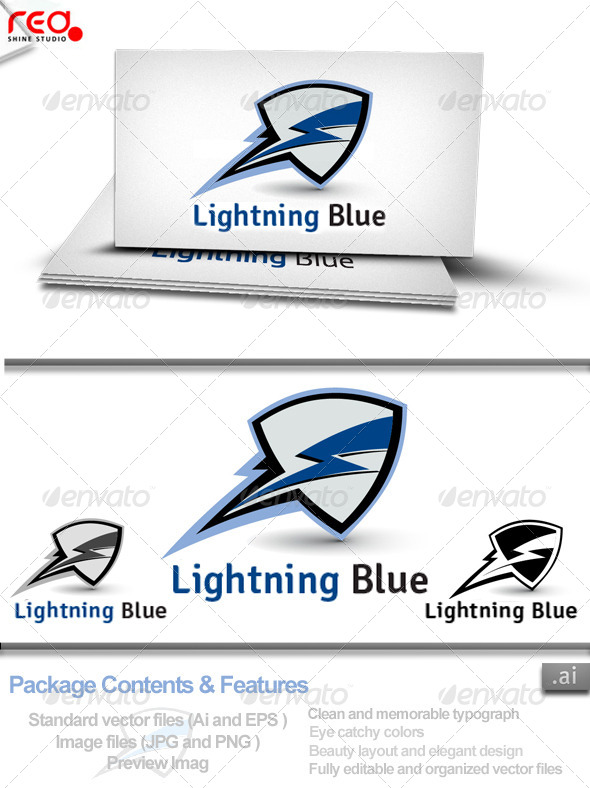 GraphicRiver Lighting Blue Logo 4116026