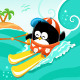 Water Skiing Penguin - GraphicRiver Item for Sale