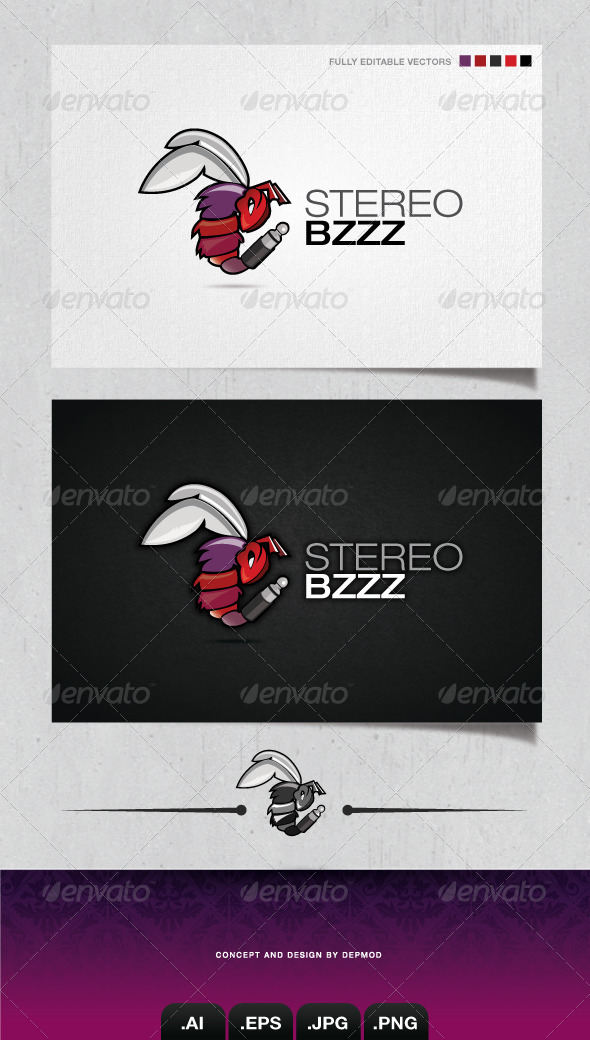 GraphicRiver Stereo Bizzz Logo 4044306