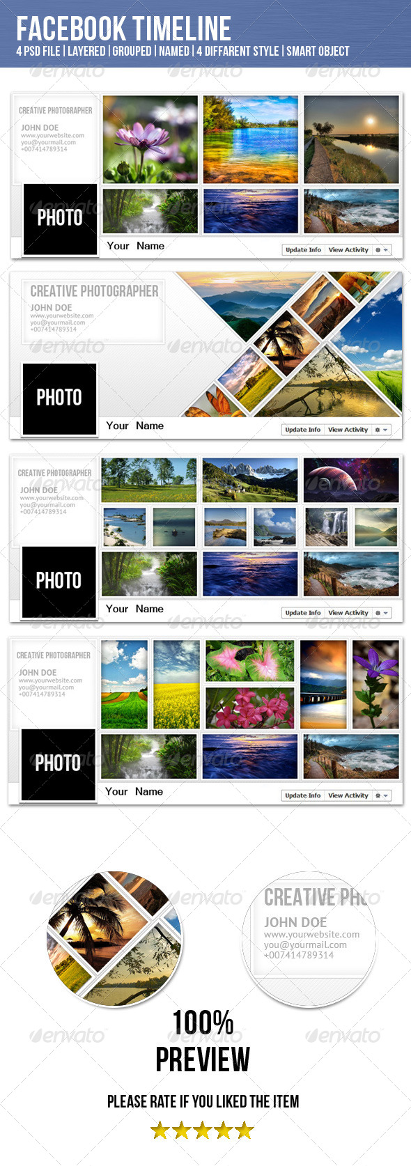 GraphicRiver Facebook Timeline for Photographer 4117464
