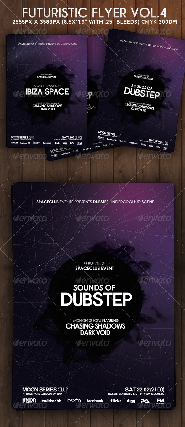 Futuristic Flyer Vol 4 - Clubs & Parties Events